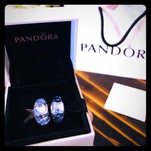 Pandora Ice Drops Murano Glass Charm, Clear CZ